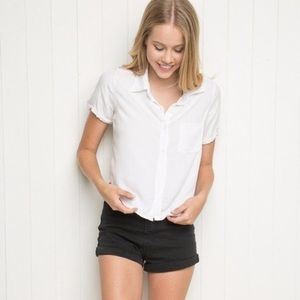 Brandy Melville white Peyton top